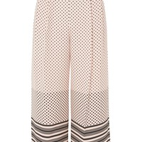 Spot & Stripe Crop Wide Leg Trousers | Topshop