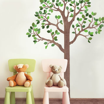 Large Woodland Tree Wall Decals