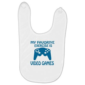my favorite exercise is video games Baby Bibs