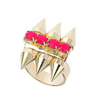 Stone and Spike Ring