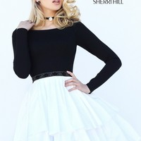 Sherri Hill 50641 Long Sleeve Party Dress | RissyRoos.com