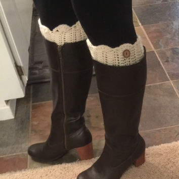 Handmade Crocheted Boots Cuffs w/ Scallop Edge - Any Color