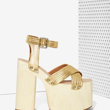 Jeffrey Campbell Boogaloo Leather Platform