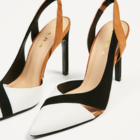 CONTRAST HIGH-HEEL SHOES DETAILS