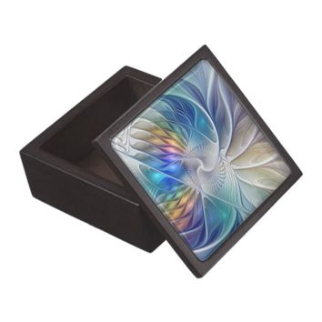 Floral Fantasy, abstract and modern Fractal Art Jewelry Box