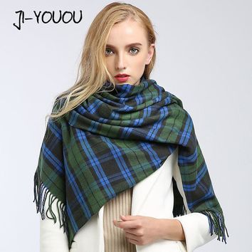 scarves women high fashion poncho winter plaid blanket ladies scarves twill silk scarf poncho and capes wool scarf women