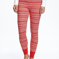 Patterned Thermal Leggings for Women | Old Navy