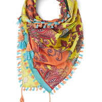 ModCloth Boho Crazy About Color Scarf in Yellow