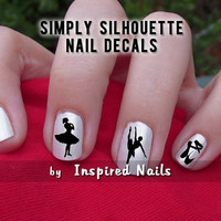Ballet Nail Decals Black and Clear Simply by InspiredNails on Etsy