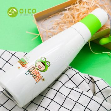 Family Friends party Board game OICO 350ML 4 Colors Outdoor Bowling Shaped Water Bottle Stainless Steel Vacuum Dual Hot and Cold Insulation Sports Bottle Cup AT_41_3