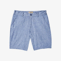 10 Inch Linen-cotton Flat Front Shorts from EXPRESS