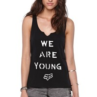 Fox Young Double Scoop Tank - Womens Tee - Black -