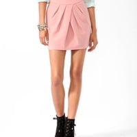 Gathered Pleats Skirt