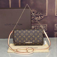 LV Louis Vuitton Women Shopping Leather Satchel Shoulder Bag Handbag Crossbody G
