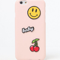 LA Hearts Pink Faux Leather Patch iPhone 6/6s Case at PacSun.com