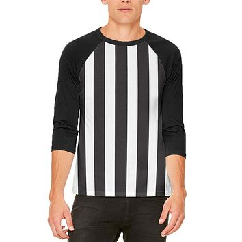 Halloween Referee Costume Mens Raglan T Shirt