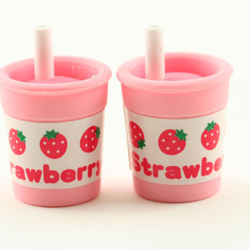 Strawberry Milkshake Erasers