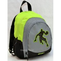 AND1 Toddler Preschool Boy Backpack in Black, Green and Gray