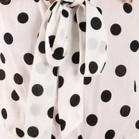 Leanne Polka Dot Bow Top