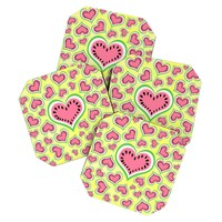 Lisa Argyropoulos Watermelon Love Sunny Yellow Coaster Set