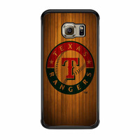 Texas Rangers Wood Pattern Samsung Galaxy S6 Edge Case