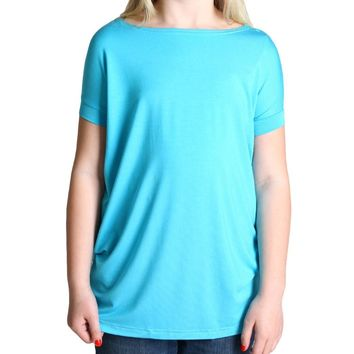 Turquoise Piko Kids Short Sleeve Top