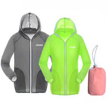 Plus Size XS-3XL Waterproof Skin Thin Jacket Summer Male & Female Outdoor Sport Trekking Rain Coat Camping Hiking Jacket,UA031