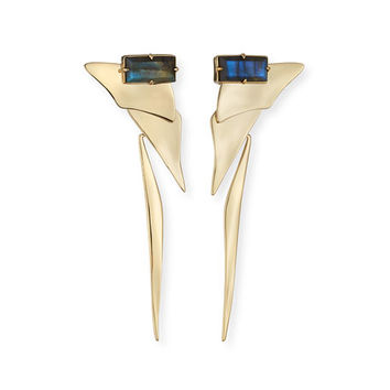 Alexis Bittar Sleek Labradorite Drop Earrings