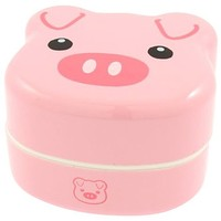 Kotobuki 2-Tiered Bento Box, Piggy
