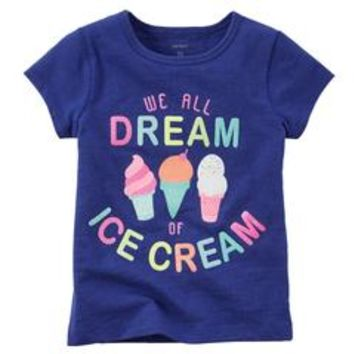 Toddler Girl's Graphic T-Shirt - Ice Cream - Sears