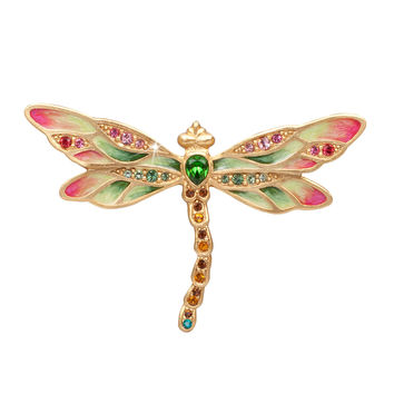 Candice Bejeweled Dragonfly Pin - Jay Strongwater
