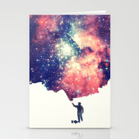 Painting the universe Stationery Cards by Badbugs_art