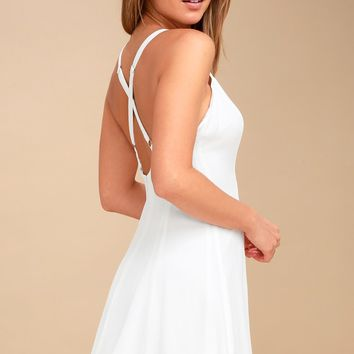 Rachel White Slip Dress