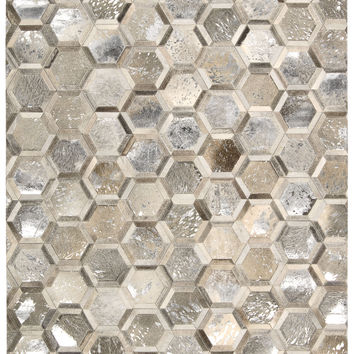 Michael Amini City Chic Silver Area Rug By Nourison MA100 SIL (Rectangle)