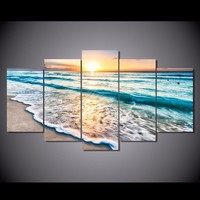Good Morning Ocean View 5-Piece Wall Art Canvas