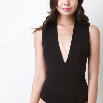 Sleeveless Plunging V-Neck Bodysuit