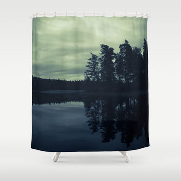 Lake by Night Shower Curtain by Nicklas Gustafsson