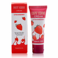 Hot Love-Kiss Strawberry flavored edible lubricants,intercourse male female oral sex lubricant sex lubricant