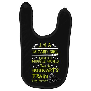 Just A Wizard Girl Living In A Muggle World Baby Bibs
