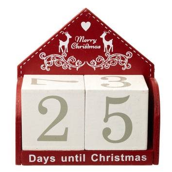 Christmas Countdown Block Calendar