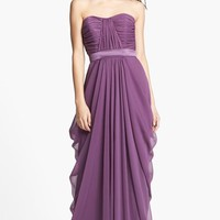 Women's Lela Rose Bridesmaid Draped Chiffon Dress,