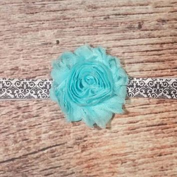 Shabby Flower Damask Headband - Multiple Colors Available