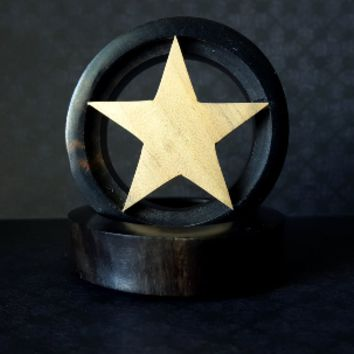 """Hand Carved Star Eyelets 1 7/8"""" (48mm)"""