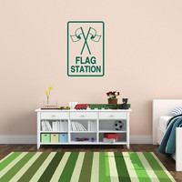 Wall Decal Paintball Flag Station Kids Room Sign 22409