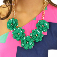 Flower Power Vintage Insipred Country Glam Necklace