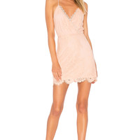 Lovers + Friends Art Deco Dress in Nude