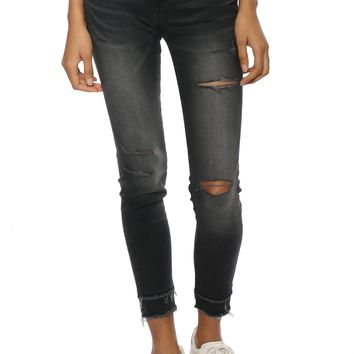Flying Monkey Distress Double Layered Skinny Jeans