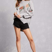 Woven Heart Floral Sweater