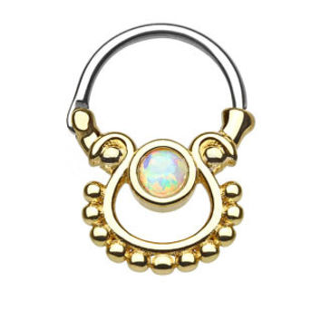 Single Opal Gold IP Septum Clicker