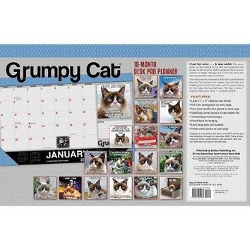 Grumpy Cat Desk Pad Calendar, Funny Cats by Sellers Publishing